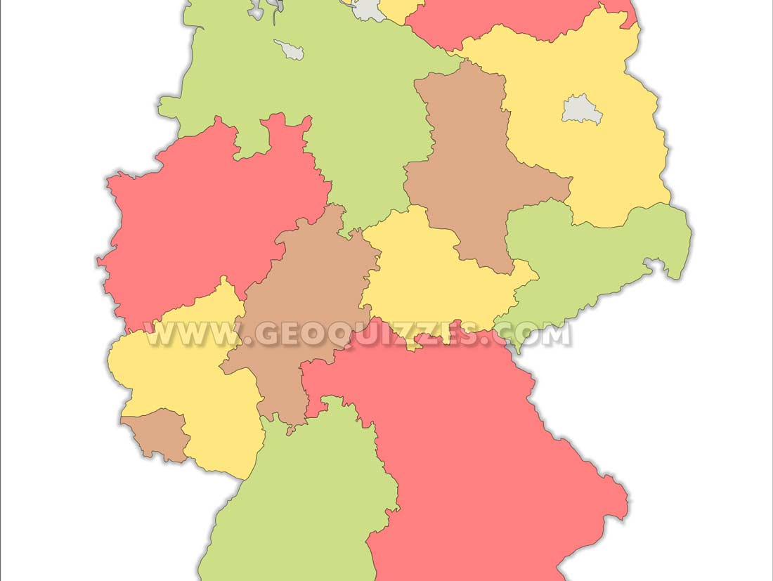 Deutschland Bundeslander Erdkunde Quiz