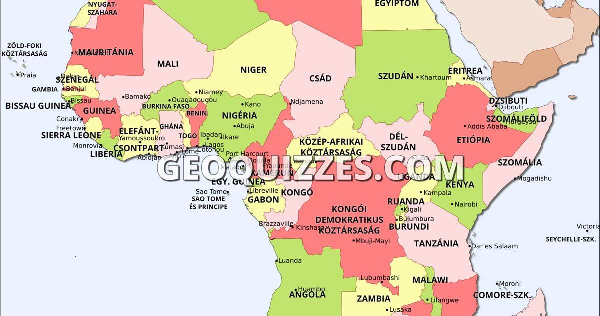 Afrika Orszagai Terkepes Kviz